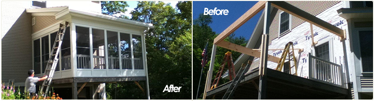 Our Upper Valley Remodeling & Building Services: Roofing Vinyl Siding Home Remodeling Kitchen Remodeling Decks, Porches and Patios Electrical Plumbing Heating & Cooling Remodeling contractor Kitchen Remodeling Bathroom Remodeling Basement Remodeling Painting Wallpapering All Types of Flooring Dry Wall Hanging & Repair Masonry Finish Carpentry Roofing Siding Windows & Doors Hanover New Hampshire